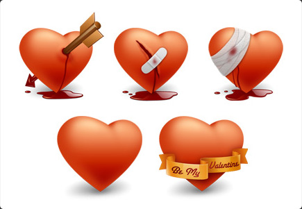 Valentines Hearts on Free Valentine S Day Icons  Greeting Hearts